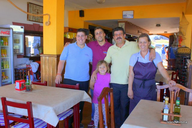 The family, Soledad and Tomas with sons Vicente and David, and their little granddaughter.
