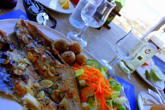 Grilled fish and papas arrugadas Casa Tomas Lanzarote
