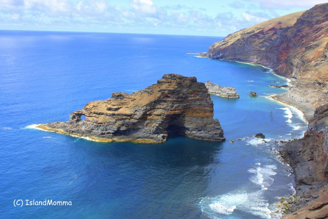 Stunning scenery in La Palma, dramatic cliffs and cobalt seas