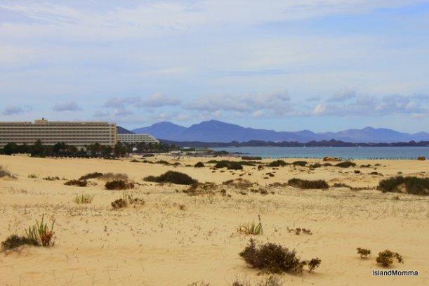 Lanzarote and Isla del Lobos can be seen from Corralejo on Fuertventura's northern coast