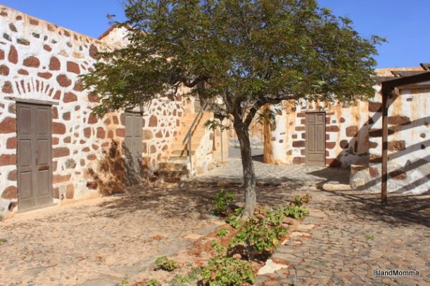 The courtyard of a resorted house in the Eco museum in Tefía