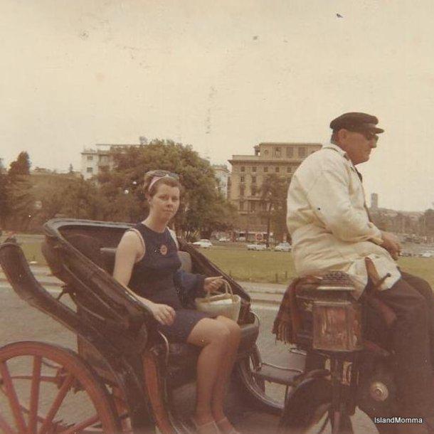 Dream come true carriage ride in Rome in 1967
