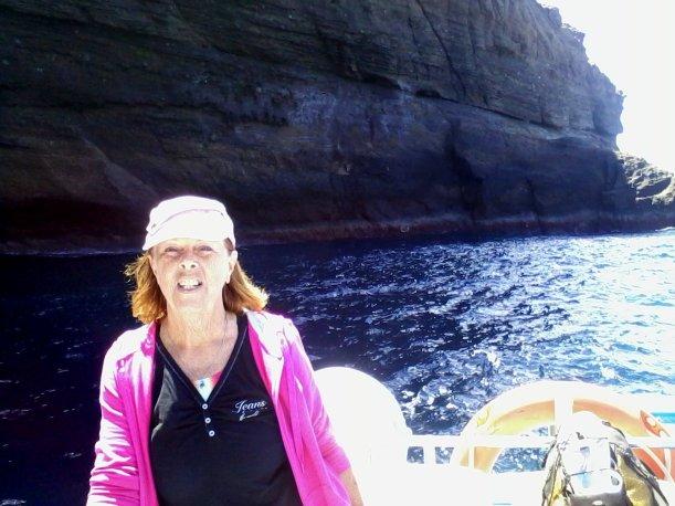 Enjoying the sea breeze along the coast of Alegranza