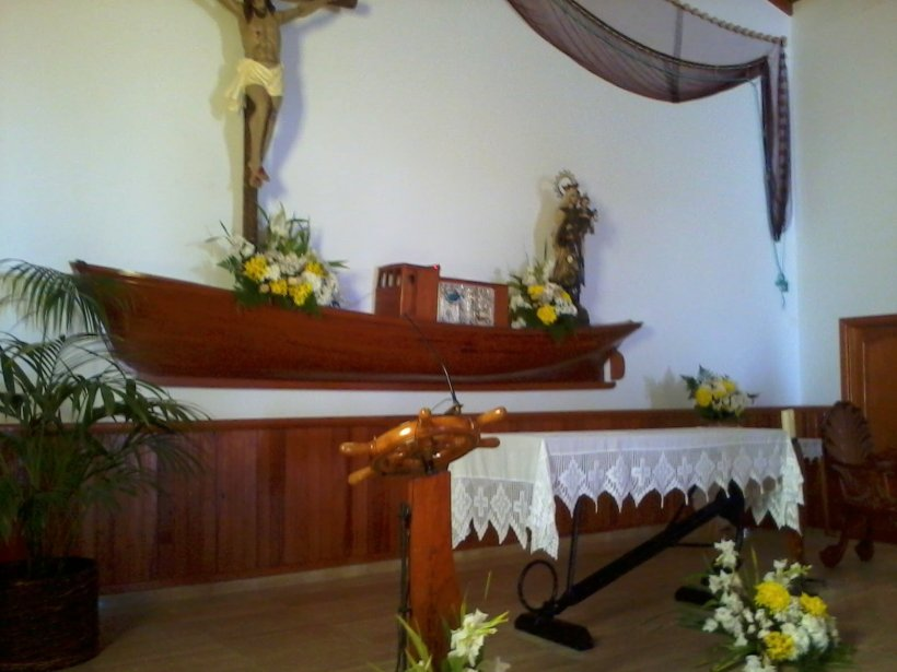 altar of church in La Graciosa