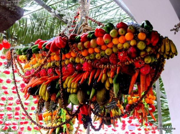 Fiesta decor church in Amparo