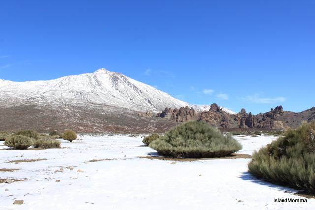 Teide in snow